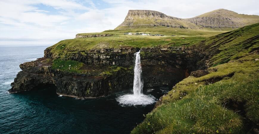 vandfald færøerne
